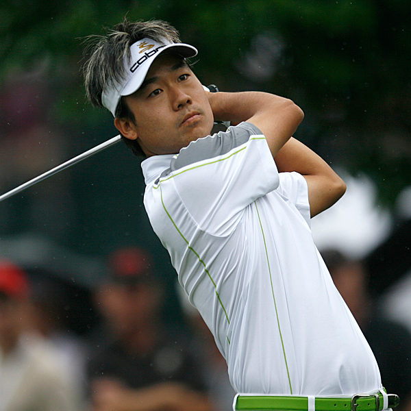 After firing an impressive 63 in the first round, Kevin Na cooled off slightly and shot a 1-under-par 69. He's three shots off the lead with 36 holes to play.