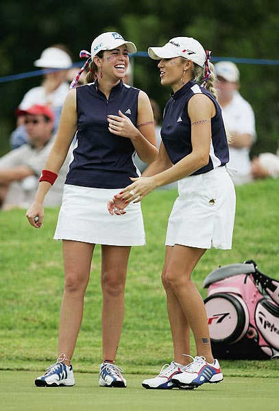 Both players participated in the 2007 Solheim Cup. Creamer has a 5-1-4 record, Gulbis is 4-3-0.
