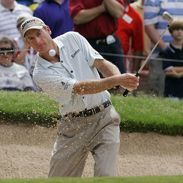 Jim Furyk, who had 21 birdies over the weekend, finished at 14 under par to enter a playoff with Rory Sabbatini and Bernhard Langer.