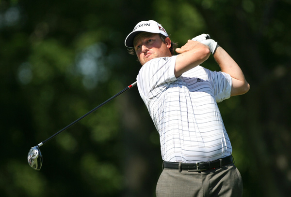 Tim Clark made four birdies on the back nine to move into second place.