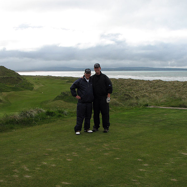 "Coyne played Enniscrone with his dad, Jim. ""After putting us to sleep with an opening four holes that were truly snoozy (three par fives, all straight away and flat as a runway), Enniscrone woke up and roared, winding us in and out and over its dunes,"" Coyne said.                                                      Course Called Ireland: Father and Son"