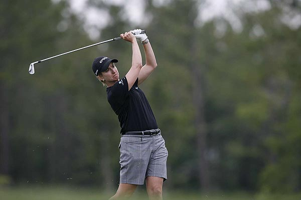 Karrie Webb is tied for the lead with In-Kyung Kim at seven under par.