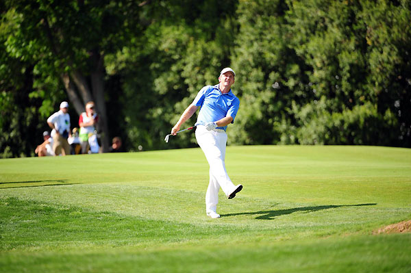 Jason Bohn shot a five-under 67 and leads by two heading into the weekend.