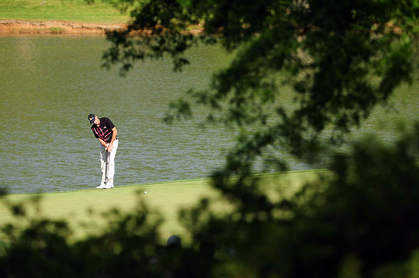 Geoff Ogilvy, playing with Mickelson, shot a second-straight 70.