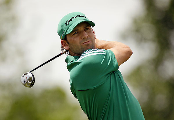 Sergio Garcia ended his round with a double bogey, a birdie, and three bogeys.