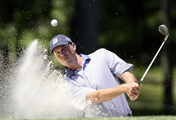 Matt Kuchar is in contention for the third straight week after a 72.