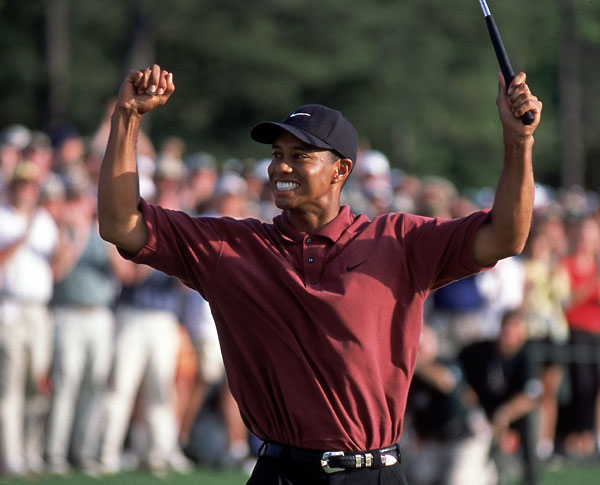 In 2002, Woods defended his title at Augusta, and Mickelson finished third again.