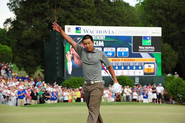 Final Round of the Wachovia Championship                           Anthony Kim became the youngest winner on the PGA Tour in six years on Sunday in a five-shot victory over Ben Curtis.