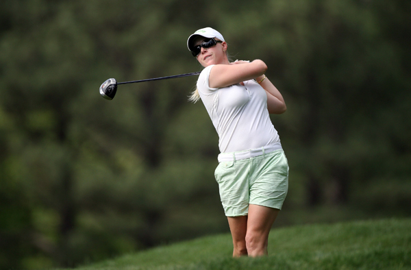 Morgan Pressel made three bogeys and a birdie for a 73.