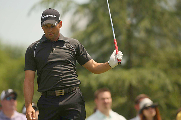 Sergio Garcia fell out of contention with a 2-over 74.
