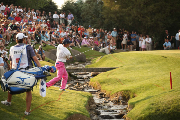 In the playoff, Byrd hit his second shot into a hazard and made bogey, allowing Glover to two-putt for the win.