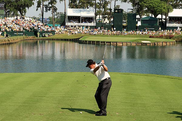 Mickelson birdied the 17th island-green hole.