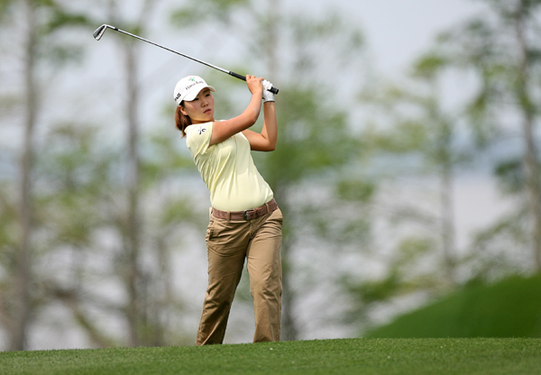 In-Kyung Kim made an eagle, seven birdies and two bogeys.