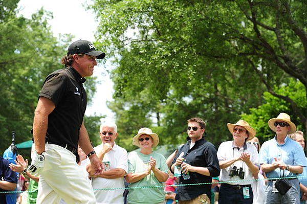 Phil made a run on the front nine, but three back-nine bogeys ended his chances.