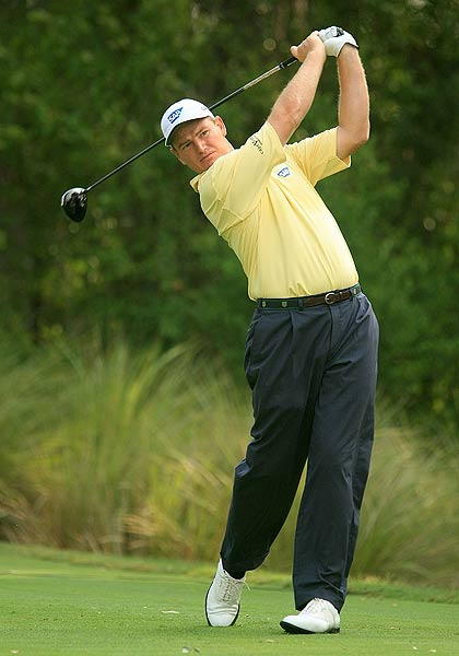 Ernie Els shot a 71 on Friday, which left him at one under par.