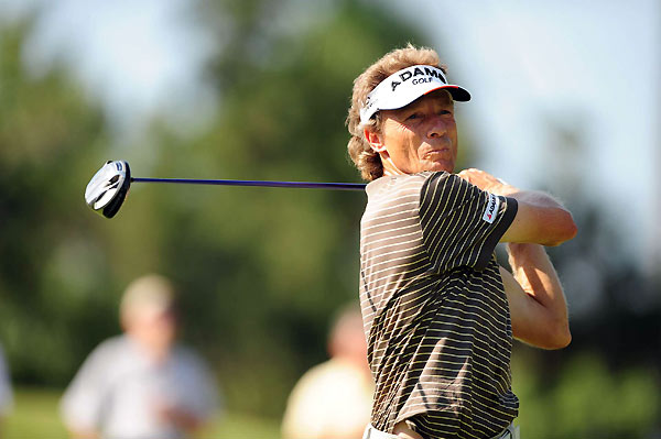 Bernhard Langer, who is the leading money winner on the Champions Tour, is only one back after a five-under 67.