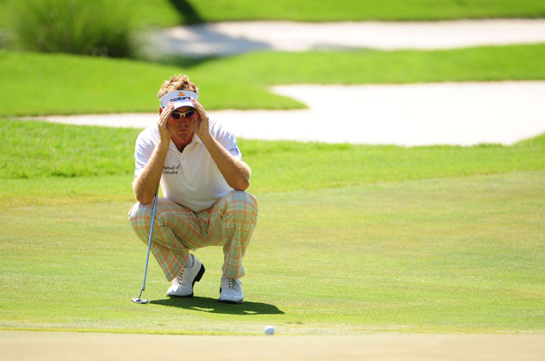 Ian Poulter made three bogeys and no birdies on Saturday.