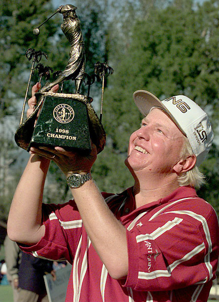 Billy Mayfair, 1998 Nissan Open                       Woods's only loss in a playoff came against Mayfair at Riviera.