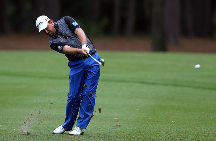 Graeme McDowell is two shots back after a four-under 67.