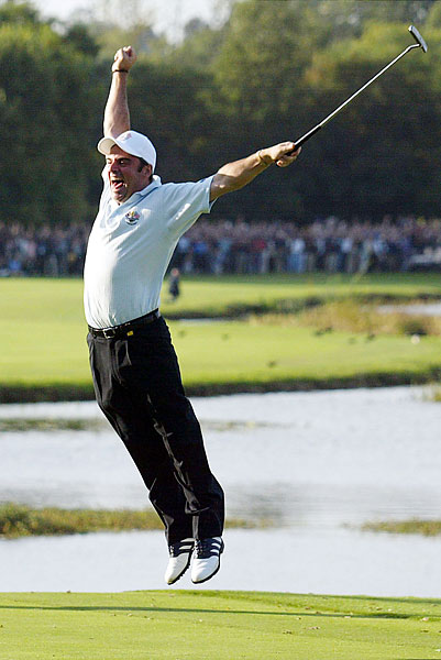Paul McGinley sank the winning putt to clinch Europe's three-point win over the U.S.