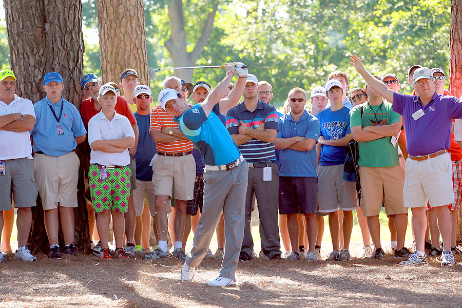 Rory McIlroy shot a two-under 68 on Thursday in Memphis.