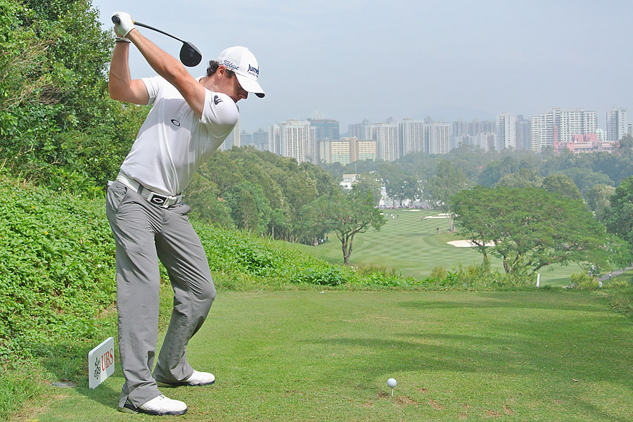Despite wrapping up the European tour money title last week, Rory McIlroy was back in action Thursday for the first round of the UBS Hong Kong Open.