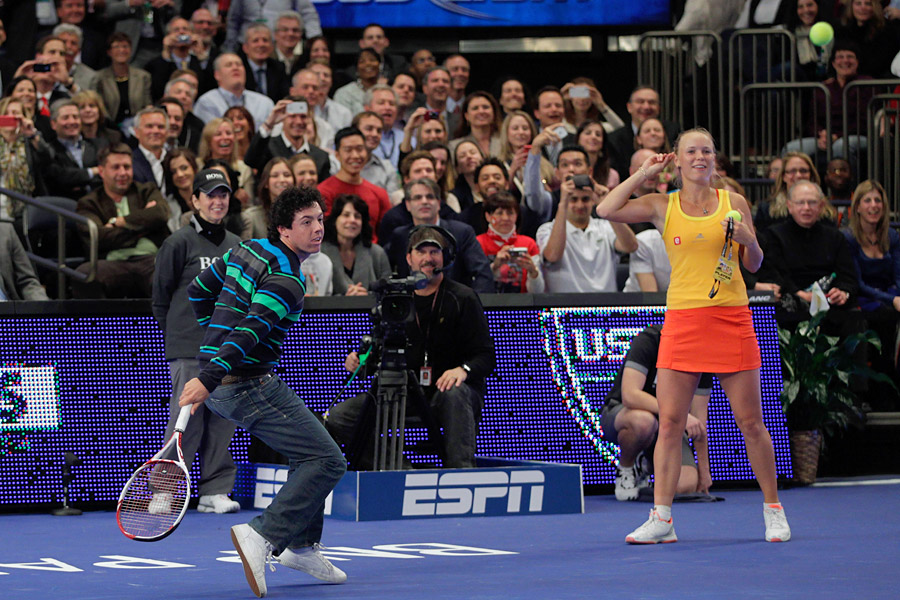 The event, which took place at Madison Square Garden, was an exhibition match between the two tennis stars.
