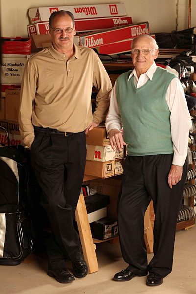 Bob Mednralla Jr. and Bob Mendralla, Master clubmakers, Wilson Golf                           The Mendrallas concede that they haven't built every set of Wilson sticks used to win major championships—just 38 of an industry-record 61. But pretty much every Wilson major winner since Gene Sarazen's time, including Sam Snead, Nick Faldo and Vijay Singh, has used their clubs.