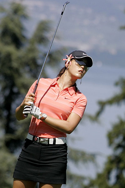 Michelle Wie shot 70 to finish up at five under par.
