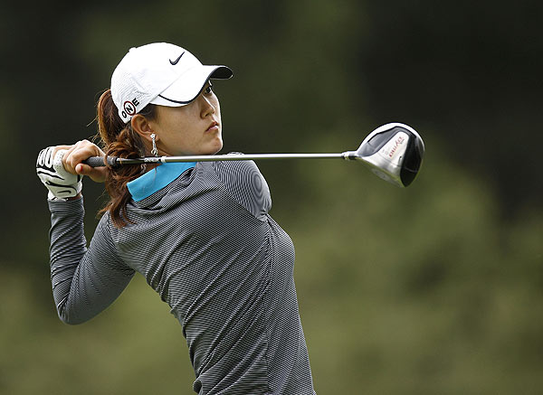 Michelle Wie is only one stroke back at six under.