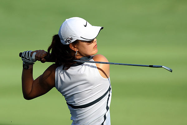 """It was a little sketchy in the beginning, but I felt confident with my putts,"" Wie said of her round."