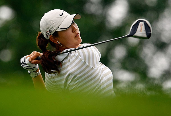 Michelle Wie is five strokes off the lead after an opening-round, two-under 70.
