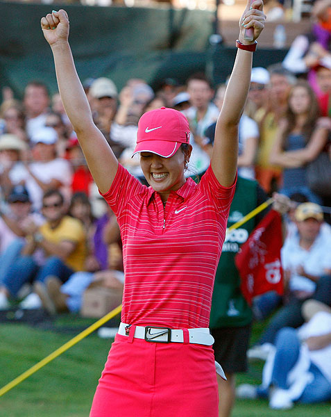 Wondering how Michelle Wie was feeling after her first LPGA Tour win?                       TheMichelleWie wowwwww...... never thought this would feel THIS great!!!! (7:34 p.m. Nov. 15)                       TheMichelleWie thanks to allll my fans, family, nike and omega, david, friends, people at img for everything!!! (7:36 p.m. Nov. 15)                                              TheMichelleWie                        wooooOoooooooooo hooooooooooooooooooooooooooooo (7:36 p.m. Nov. 15)                       TheMichelleWie wow this is just sooo delicious.m (7:37 p.m. Nov. 15)