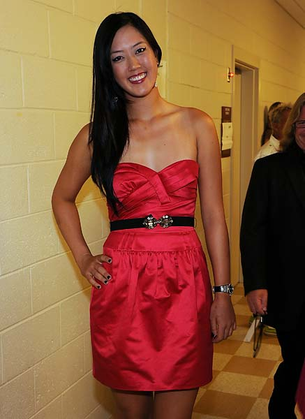 Michelle Wie attends New Look Foundation's First Annual World Leadership Awards at Cobb Energy Performing Arts Centre on August 6, 2010, in Atlanta.