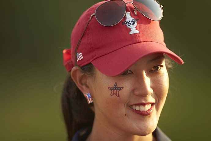 Michelle Wie during Friday Foursomes at the 2013 Solheim Cup at Colorado GC.