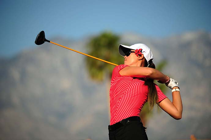Michelle Wie at the 2012 Kraft Nabisco Championship at Mission Hills CC in Rancho Mirage, Calif.