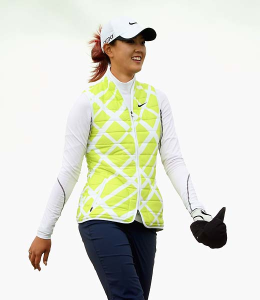 Michelle Wie during the third round of the Ricoh Women's British Open at Royal Liverpool Golf Club on Sept. 16, 2012 in Hoylake, England.