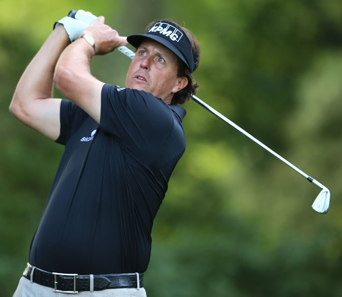 In 16 PGA Events this year, Phil Mickelson has made $4,941,977, which is second on the tour behind You-Know-Who.