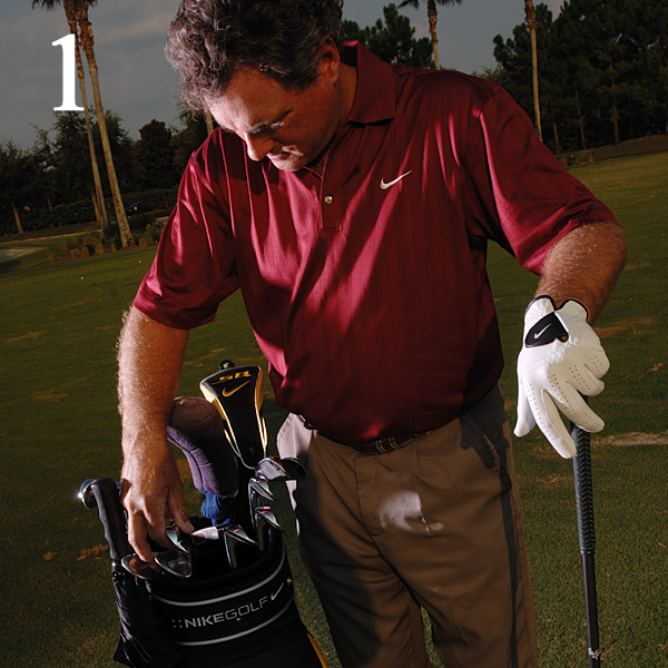 How to Get Off to a Hot Start                       Whether you hit a warm-up bucket or not, follow these steps to                       make your first shot a good one                       By Brian Mogg                       Top 100 Teacher                                                                     This story is for you if...                       • You often have to rush                       to your tee time.                       • It usually takes you                       a few holes to start                       posting good numbers.                                              Try This!                       When you can't get to                       the course early (and                       even if you do get there                       early enough to warm up                       properly), take the time to                       run through this five-item                       checklist before you step up                       to hit your first tee shot. It                       won't take long, and it can go                       a long way toward making                       that first drive a good one.                                                                     1. Count Your Clubs                       You're only allowed 14 sticks in                       your bag, and while your buddies                       might not call a penalty on                       you, an official certainly will if                       you ever play in a formal event.                       Plus, you want to make sure                       you didn't leave your trusty                       7-iron in the backyard.