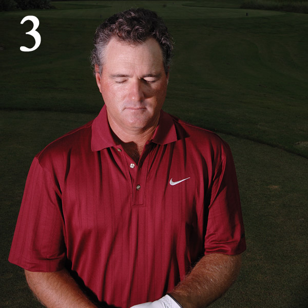 3. Take a Break                       Lag behind your group as you                       walk to the first tee, close your                       eyes and think about the day                       ahead. Devise a game plan                       not only for your swing, but                       for how you'll conduct yourself                       during your round. Without                       this kind of mental strategy,                       you won't find your groove                       until it's much too late.