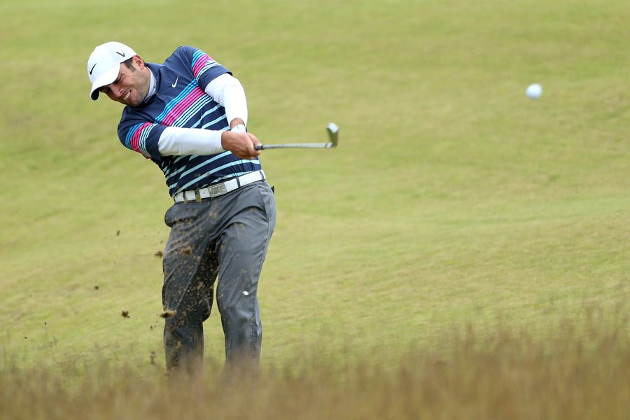 Francesco Molinari birdied the last five holes in a row to finish with a 10-under 62.