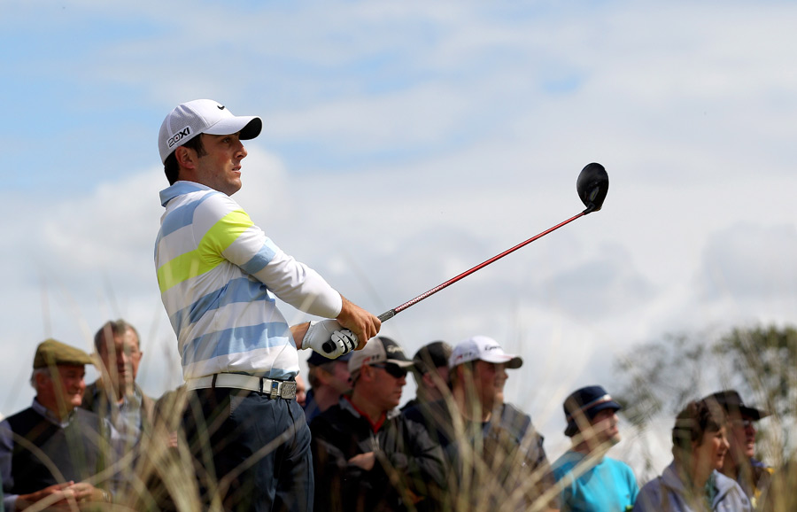 Francesco Molinari shot a five-under 67 to finish with a one-shot lead.