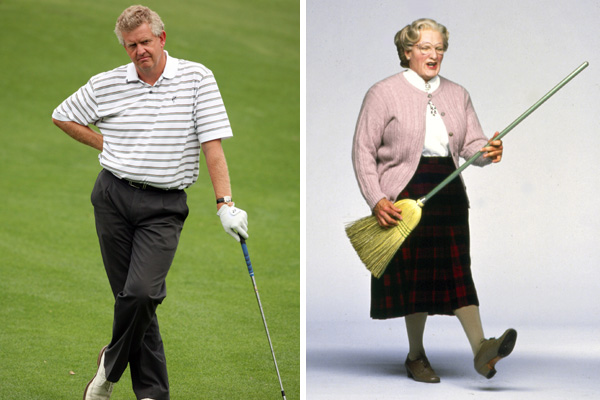 Colin Montgomerie and Mrs. Doubtfire