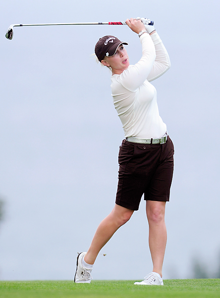 woke up Friday in the lead, but now she is three shots back after shooting an even-par 72 in the second round.