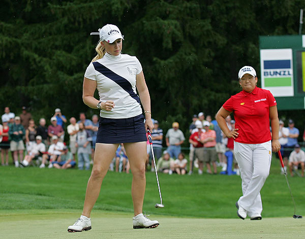Pressel birdied the ninth, but had four bogeys on the back nine to finish T15.
