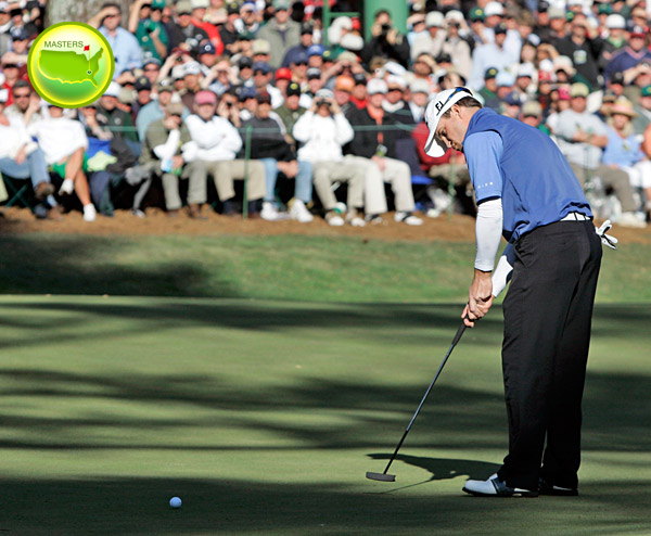 How to be Mr. Big Shots                        Learning to hit the shots the pros will need at the '08 majors will help your game, too. Top 100 Teacher Rick Grayson tells you how                                                THE MASTERS                                              AUGUSTA NATIONAL                        Augusta, Ga.                        April 10-13, ESPN, CBS                                              THE SHOT: Lagging it close on slick greens.                                              It's all about lag putting at Augusta. Last year, Zach Johnson only had one three-putt because he lagged brilliantly.                                              HOW TO DO IT: On fast greens, choke down an inch; this shortens your putter for more control. Play the ball just a touch toward the toe of the putter, which deadens the roll. Make a pendulum swing with your arms and shoulders, so you don't pop the ball with your wrists. This will help you roll 30 footers to five inches, not five feet.