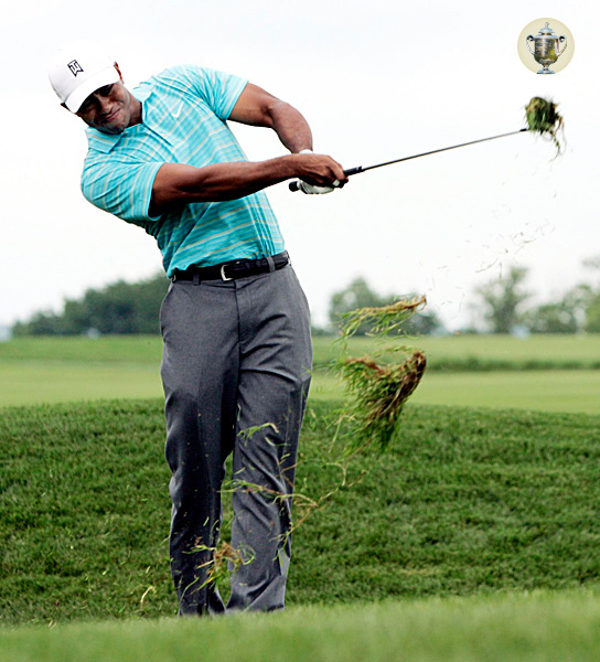 PGA CHAMPIONSHIP                                              OAKLAND HILLS                        Bloomfield Twp., Mich.                        Aug. 7-10, TNT, CBS                                              THE SHOT: Crisp contact from tough rough.                                              The PGA has taken a cue from the USGA in recent years, making the rough tougher and tougher. To hold the greens from out of the spinach at Oakland Hills, you need to make solid contact.                                              HOW TO DO IT: Play a cut shot. This promotes a descending blow, which you need from the thick stuff. With the ball centered between your feet, open your stance and take the club slightly outside going back, creating a steep, outside-in path coming down. Defending champ Tiger Woods does this brilliantly. Take an extra club if you're going for the green. If you're laying up, take one less club — the extra loft helps you make better contact.