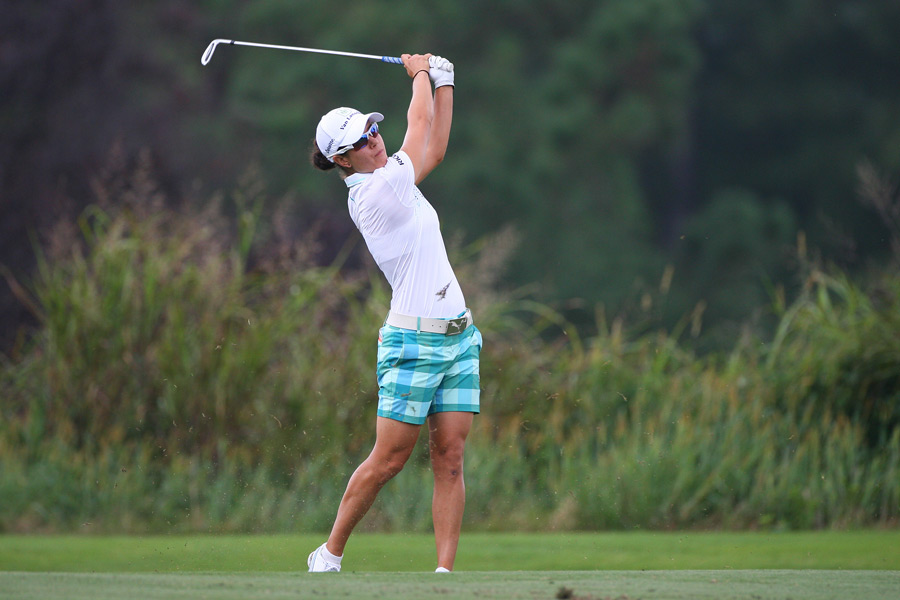 Dewi Claire Schreefel made an eagle, a birdie and a bogey.
