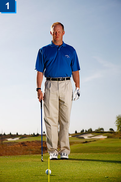 How To Stop Missing Par-3 Greens                       Follow this step-by-step guide to take perfect aim every time                       By Scott Munroe                       Top 100 Teacher                                              This story is for you if...                       1. You take your stance before you set the clubface.                                              2. You don't have a way to check your alignment on the course.                                              THE PROBLEM                       You stand behind the ball on the tee box of a par 3 and pick your target, then take your stance just like you're supposed to. So why does the ball land right of your target, and sometimes miss the green completely?                                              THE SOLUTION                       When you take your stance, you tend to align your body to the target. But since your body sits to the left of your ball-to-target line, aiming your body at the target means you're aiming your clubface to the right. Follow the steps at right to stop wasting strokes due to poor alignment.                                              1. Stand behind the ball and select a target on the green (where you want the ball to land). Draw a line from your target back through the ball.