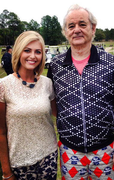 @TravisDGibson: Bill Murray is in Jacksonville hanging out with .@FCNLindsey and he's wearing PBR pants.